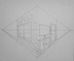 """Mia Mras, Caged, graphite on paper, 14x17"""", 2018"""