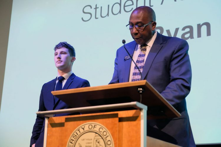 Ryan Dobbs receives Student Achievement Award