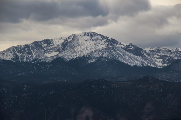 Pikes Peak with clouds