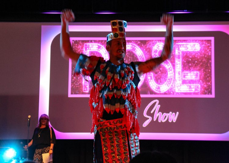 Condom Fashion Show hosted by the Campus Rec and Wellness Center