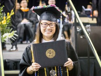 Ann Schwab earns her master's degree