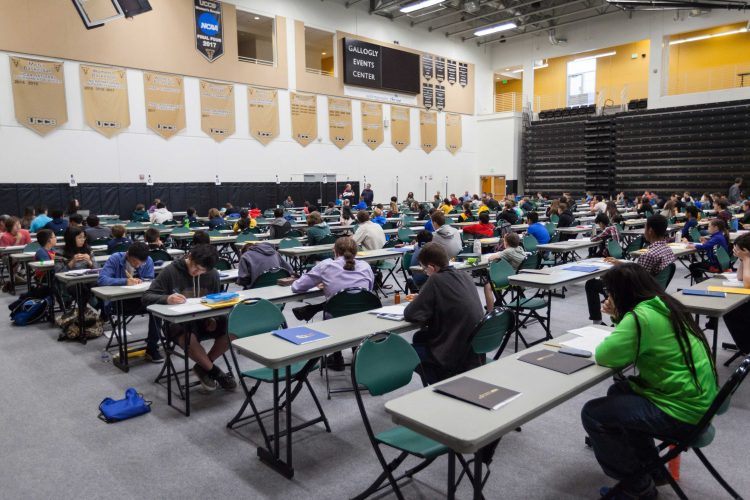 Students participate in the 36th Soifer Mathematical Olympiad