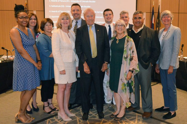 Sierra Brown and Nancy Moore recognized by Board of Regents