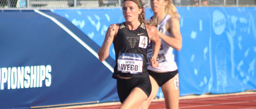 Skylyn Webb competes at the NCAA Division II Outdoor Track and Field Championships.