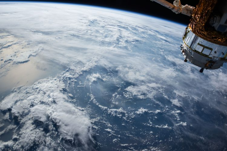 A satellite above Earth
