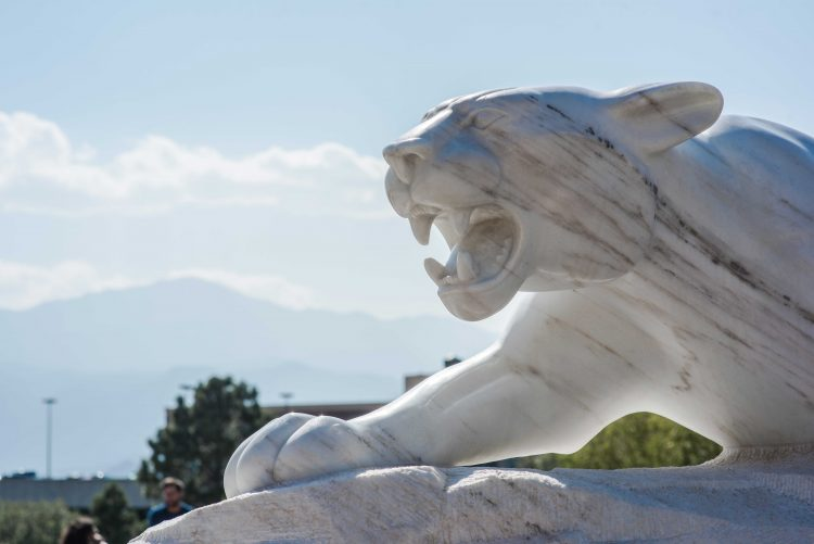 Mountain lion statue