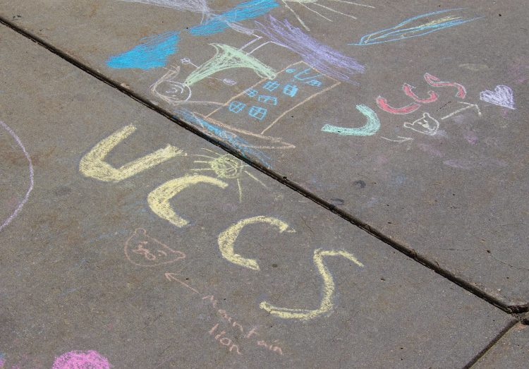 RecKids sidewalk chalk art