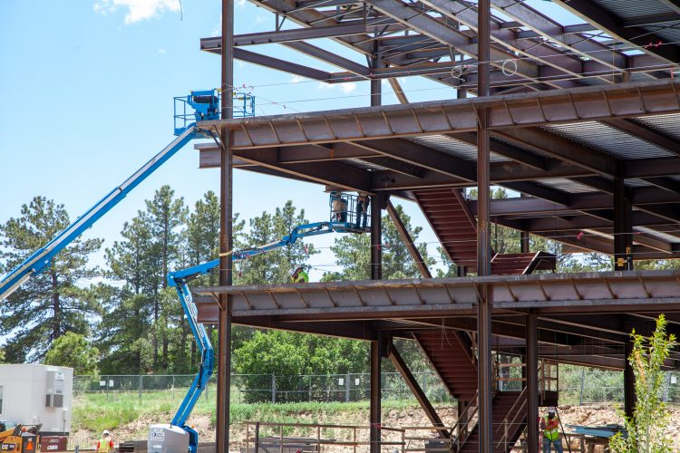 Construction on the William J. Hybl Sports Medicine and Performance Center