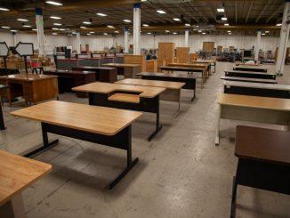 Desks for the surplus sale