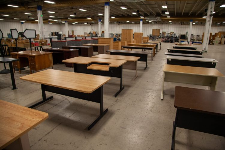 Desks for the surplus sale