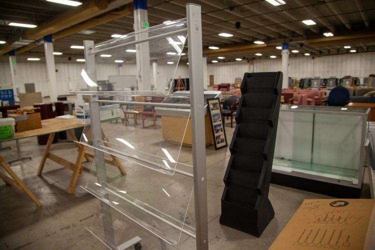 Document and publication displays at the surplus sale