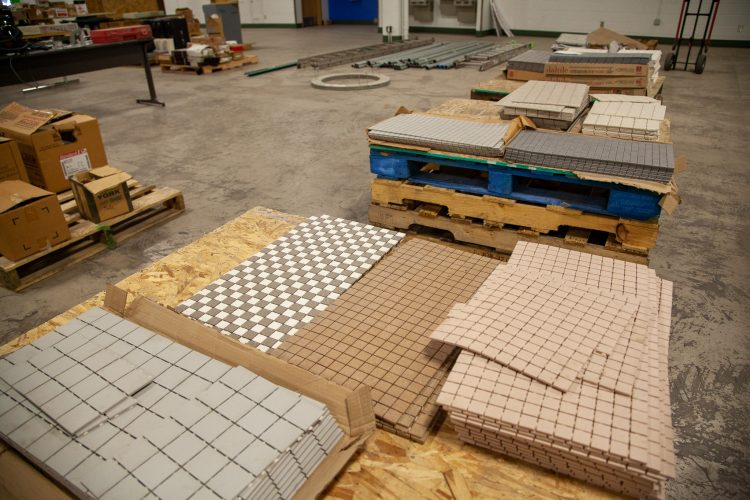 Flooring available at the surplus sale