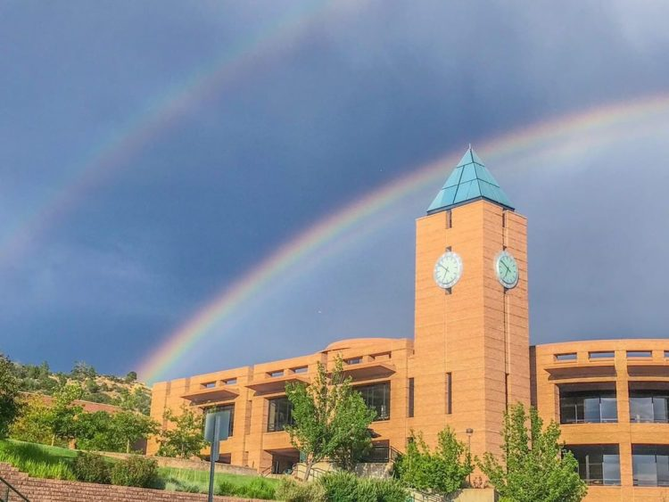 submission from @stephmoyer via Instagram of the double rainbow after a storm July 18.