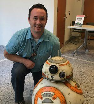 Grant Cahill with BB8
