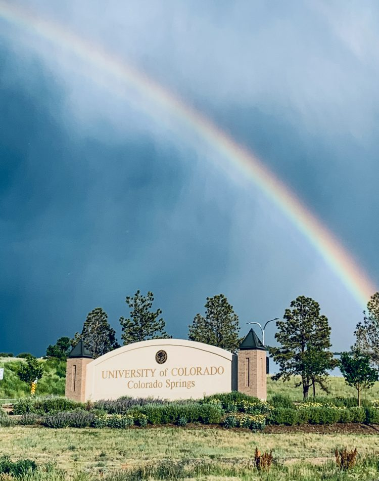 Chancellor Reddy sent us this great shot of the rainbow behind campus on July 18.