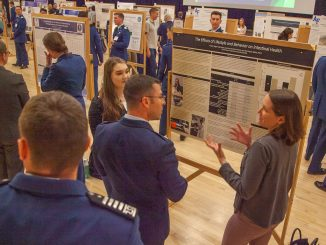 Student presents at the 2019 CSURF
