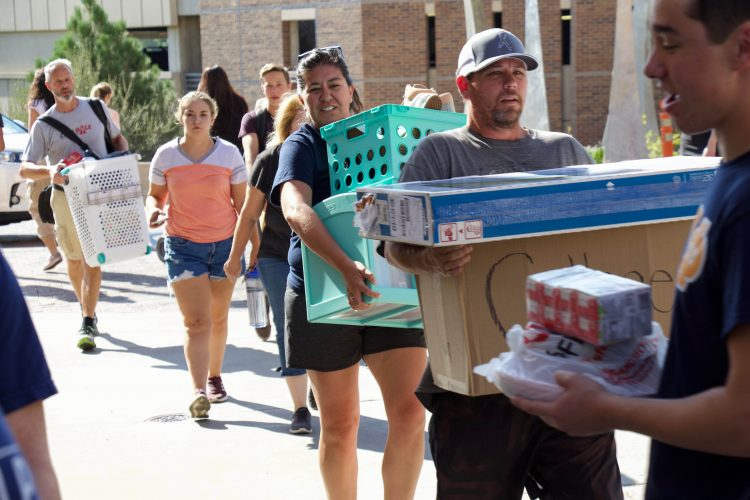Move-in day 2019 began at 8 a.m. at Summit Village.