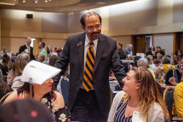 Chancellor Reddy met with new students from Southern Colorado who plan to attend a CU campus this year at the 8th annual New CU Student Celebration in Pueblo on July 23.