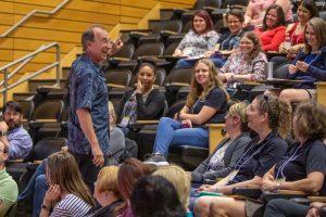 Eddie Goldstein with STEM teachers