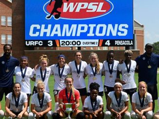 Alessa Muir as a member of the WPSL championship team