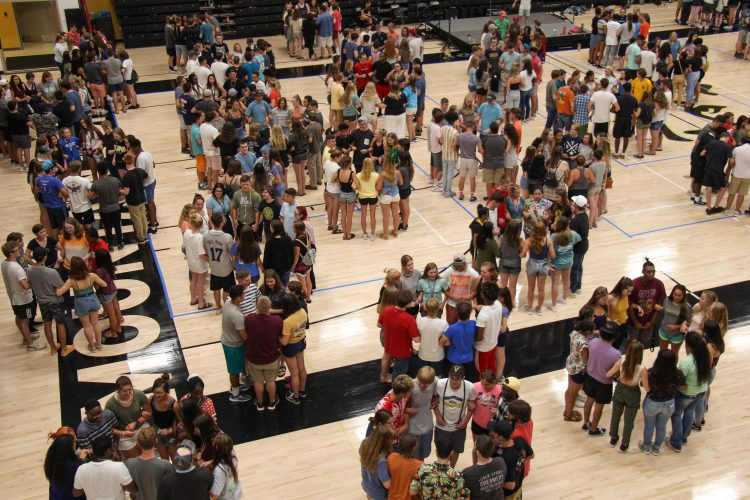 First year students participated in Play Fair on Aug 21.