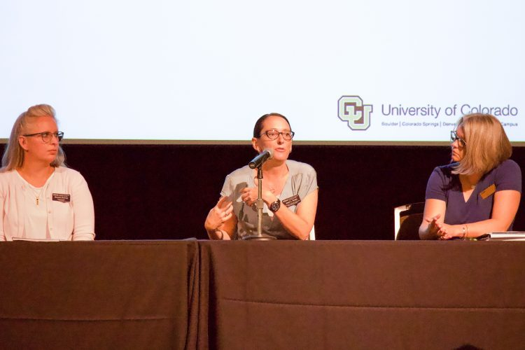 Jessi Smith speaks at a Strategic Plan Town Hall panel