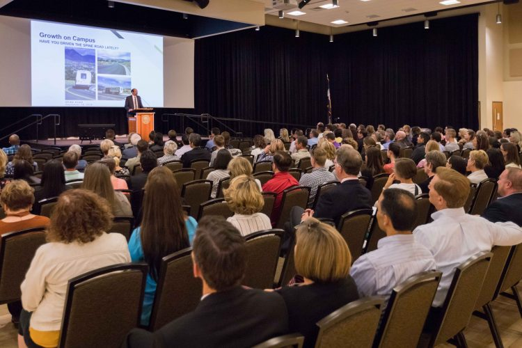 Crowd at the 2019 State of the Campus address