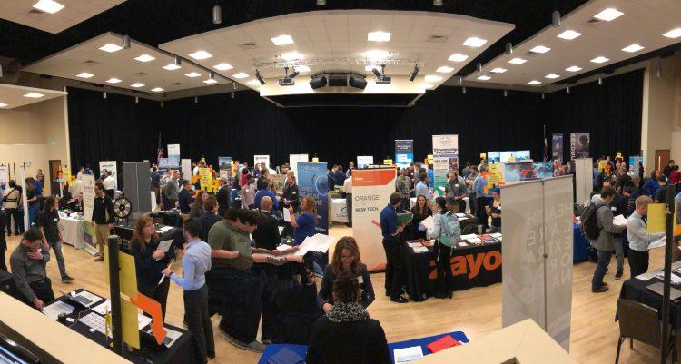 Career fair in Berger Hall