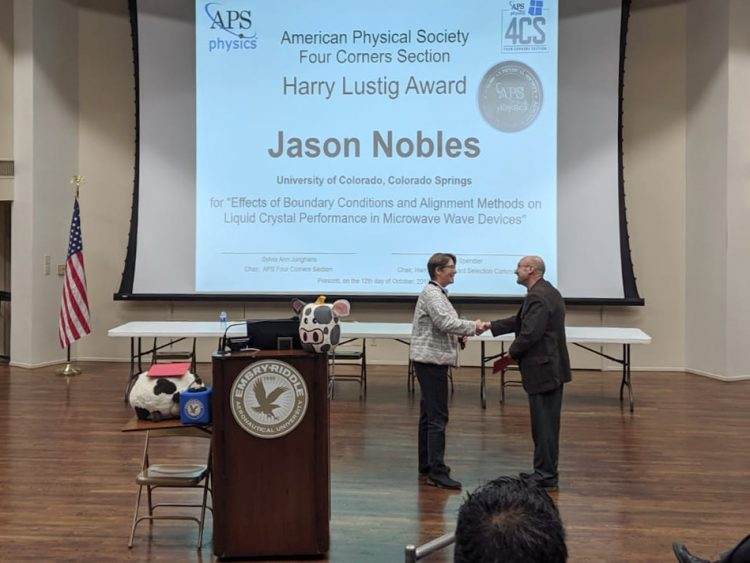 Jason Nobles receives the Harry Lustig Award
