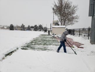 Crews clear snow from Mountain Lion Stadium