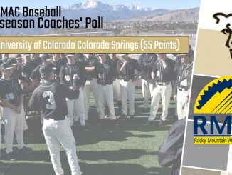 2020 RMAC Baseball preseason coaches poll graphic