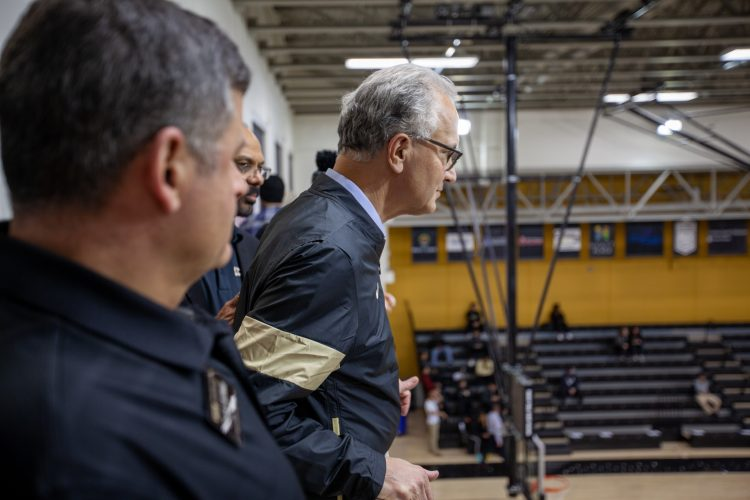 President Kennedy watches UCCS basketball