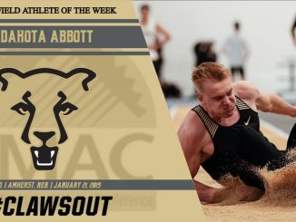 Dakota Abbott named RMAC Athlete of the Week