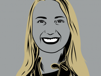 Graphic illustration of Kate Schumacher