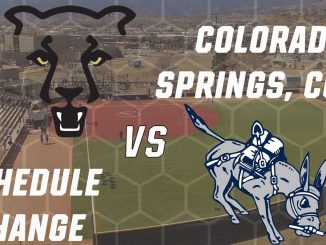 Graphic with UCCS and Colorado School of Mines logos for a schedule change.