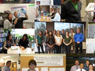 Collage of students participating in the Undergraduate Research Academy