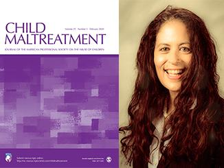 Cover of Child Maltreatment and headshot of Gia Barboza