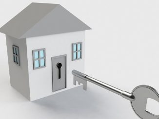 A house with a key graphic