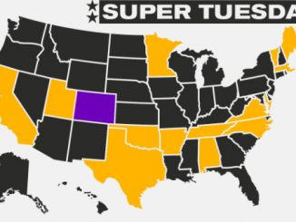 Map of Super Tuesday states