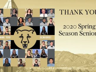 Graphic with the 36 seniors for Mountain Lion spring sport teams