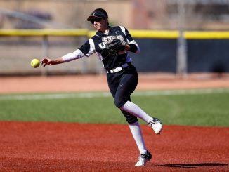 Solana Martinez throws the ball at Mountain Lion Field
