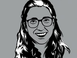 A graphic illustration of a headshot for Morgan Lavender