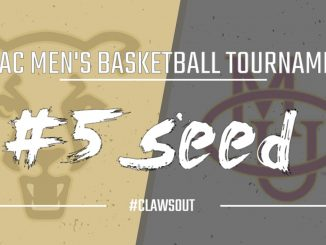 Graphic for No. 5 seed for UCCS with logos in the background of UCCS and Colorado Mesa.