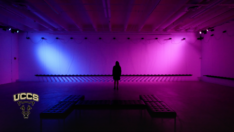 Lights on an exhibition in the Galleries of Contemporary Art.