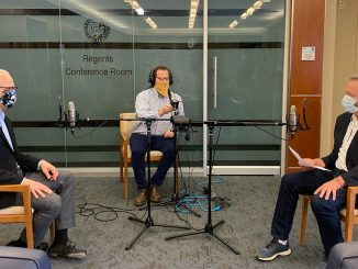 CU President Mark Kennedy conducts a podcast interview