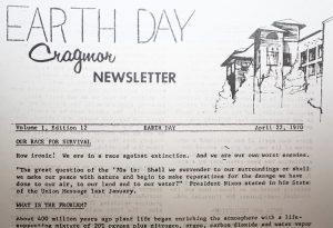 Cragmor Newsletter 1970 Earth Day Edition