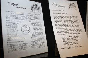 Two articles promoting Earth Day in the 1970 Cragmor Newsletters