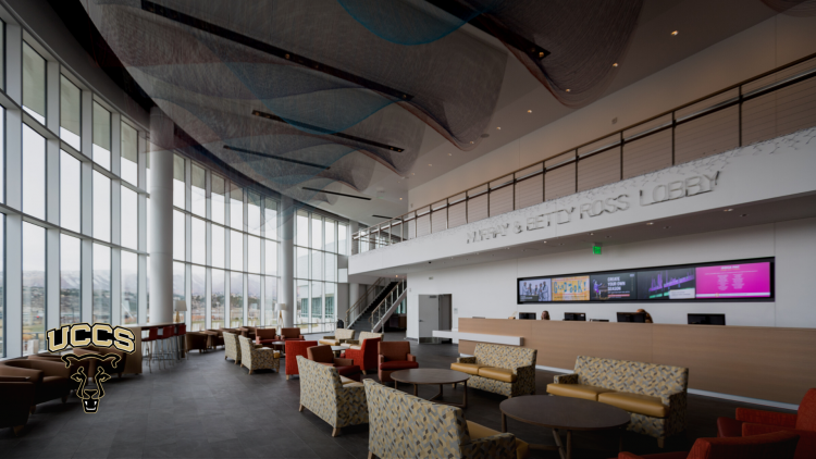 The Murray and Betty Ross Lobby at the Ent Center for the Arts