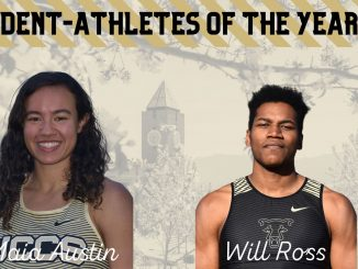 Headshots of Maia Austin and Will Ross as the 2020 Student-Athletes of the Year