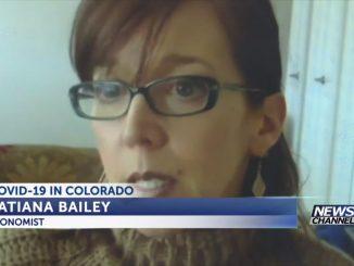 Screenshot of Tatiana Bailey conducting an interview on April rent deadlines